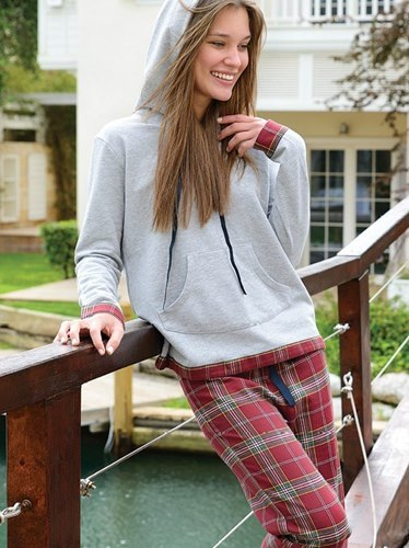Eve Flannel Pants & Sweatshirt